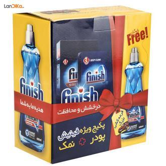 پک شوینده ماشین ظرفشویی فینیش بسته 3 عددی   Finish Dishes Detergents Dishwasher Powder Pack Of 3