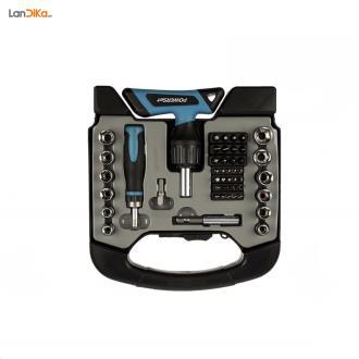 مجموعه 48 عددي سري پيچ گوشتي و آچار پاورست مدل TH1048 | Power Set TH1048 Ratchet Screwdriver Set 48 PCS